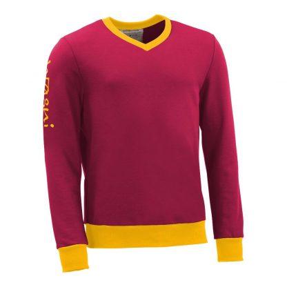 Pullover mit V-Ausschnitt_fairtrade_weinrot_R5T0RA_front
