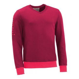 Pullover mit V-Ausschnitt_fairtrade_weinrot_SA2HT3_front