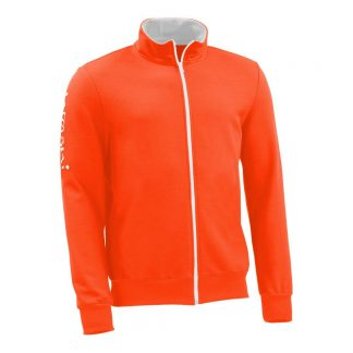 Sweatjacke_fairtrade_orange_TL7F0Y_front