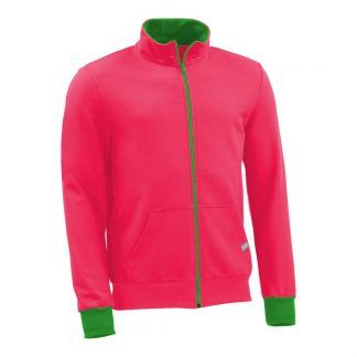 Sweatjacke_fairtrade_pink_INA6VF_front