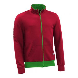 Sweatjacke_fairtrade_rot_4KRZ38_front