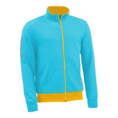 Sweatjacke_fairtrade_tuerkis_WZNOM5_front