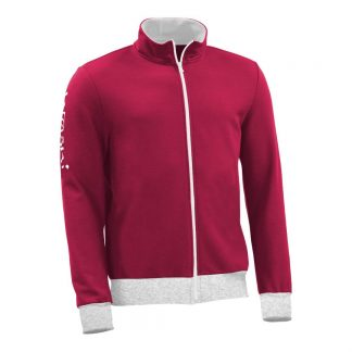 Sweatjacke_fairtrade_weinrot_A495YJ_front