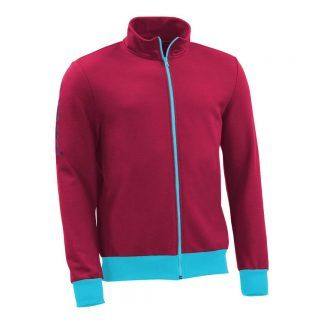 Sweatjacke_fairtrade_weinrot_O14WB3_front