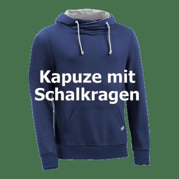 Modell_Kapuzenpullover mit Schalkragen-sweatshirt-bio-fair