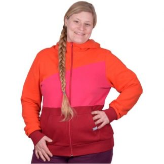 Kapuzenjacke bunt orange rot