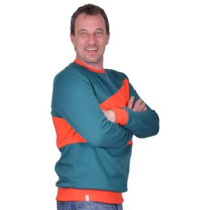 Winnie_Rundhald Pullover petrol orange