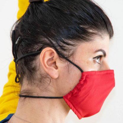 Behelfs-Mundschutz mit Gummi oder Kordel