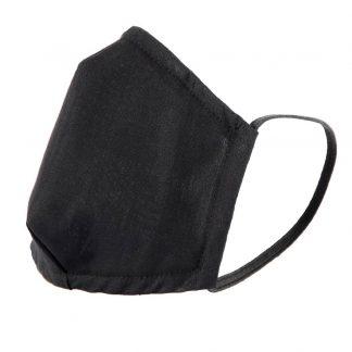 Mund-Nasen-Maske mit Gummi, schwarz