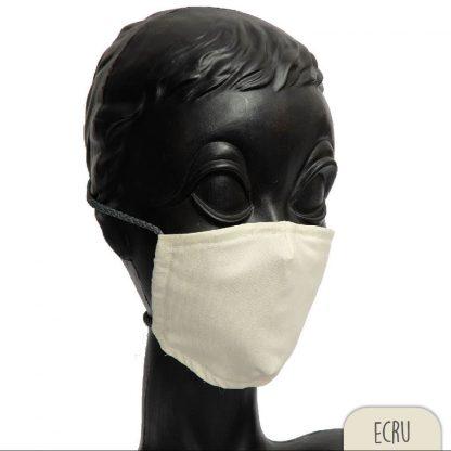 Behelfsmaske mit eingenähtem flexiblen Nasenbügel