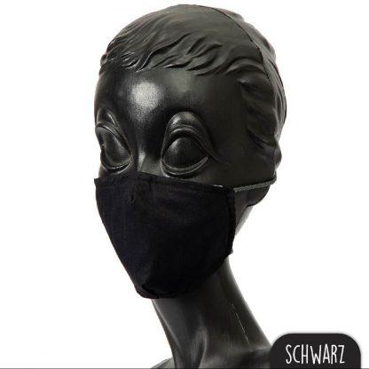 Mundnasenmaske schwarz