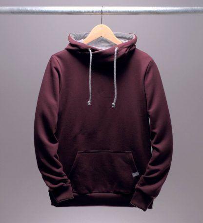 hoodie-kapuzenpullover-maenner-bordeaux