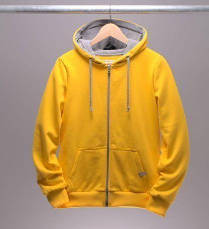 kapuzenjacke-frauen-gelb