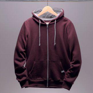 kapuzenjacke-hoodie-frauen-bordeaux