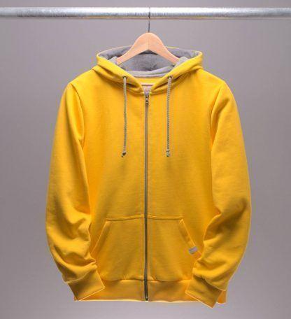 kapuzenjacke-maenner-gelb