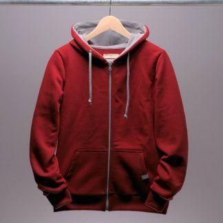 kapuzenjacke-sweatshirt-frauen-rot-chili