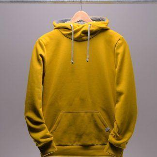 Kapuzensweatshirt Männer, Farbe senf