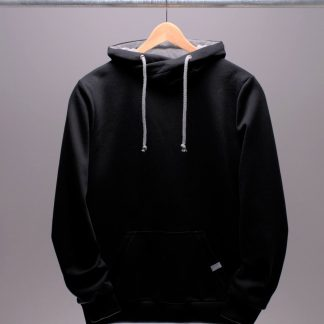 schwarzer Hoodie für Männer